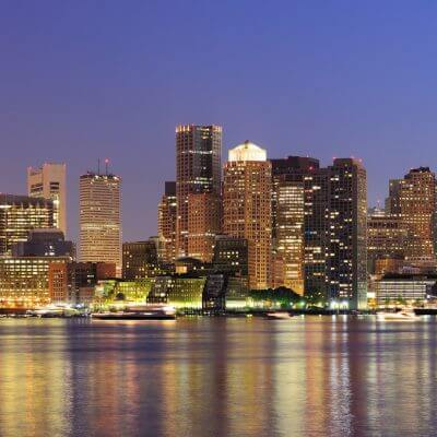 The skyline on a Boston mission trip or pilgrimage with Wonder Voyage.