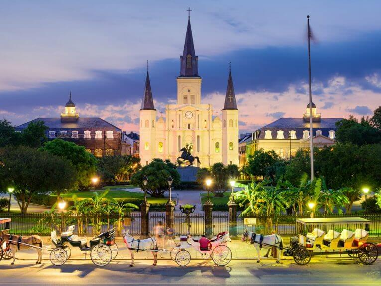 Jackson Square in New Orleans.