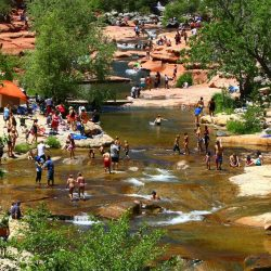 Swim or relax at Slide Rock State Park on a Mission Trip or Pilgrimage to Arizona with Wonder Voyage.