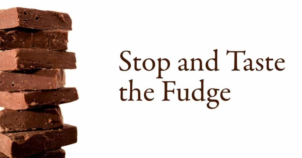 Stop and Taste the Fudge