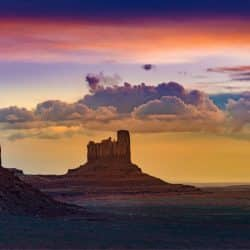 Castle Butte in Monument Valley - Utah Wonder Voyage