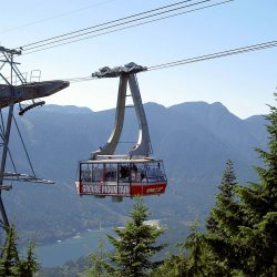 Experience breathtaking views of Vancouver aboard the Grouse Mountain Cable Car on a mission trip or pilgrimage with Wonder Voyage.