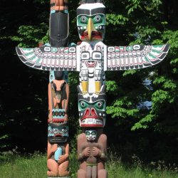 Visit the Stanley Park Totem Poles on a mission trip or pilgrimage to Vancouver with Wonder Voyage.