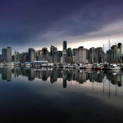 View the beautiful city of Vancouver from the water on a Mission Trip or Pilgrimage with Wonder Voyage.